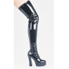 Thrill Thigh Hi Black Sz 7